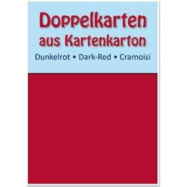 KARTEN und Zubehör / Cards 10 dobbeltværelser kort A6, mørk rød, 250 g / kvm
