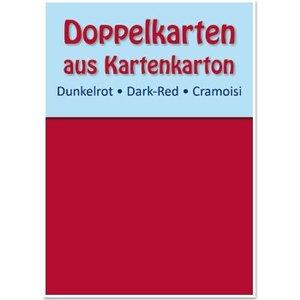 KARTEN und Zubehör / Cards 10 cartes doubles A6, rouge foncé, 250 g / m²