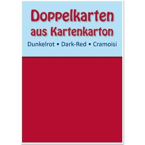 KARTEN und Zubehör / Cards 10 double cards A6, dark red, 250 g / sqm