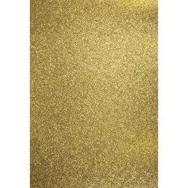 Karten und Scrapbooking Papier, Papier blöcke A4 ambacht doos: glitter, goud