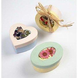 Objekten zum Dekorieren / objects for decorating Passepartout-dozen, D: 7,5 cm, 4 verschillende