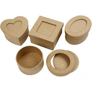 Objekten zum Dekorieren / objects for decorating Passepartout-dozen, D: 7,5 cm, 4 verschillende
