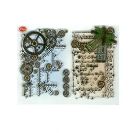 VIVA DEKOR (MY PAPERWORLD) Gennemsigtige frimærker, Steampunk