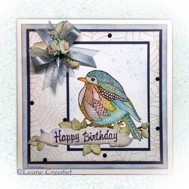 Leane Creatief - Lea'bilities und By Lene Transparent stamps, Doodle Bird