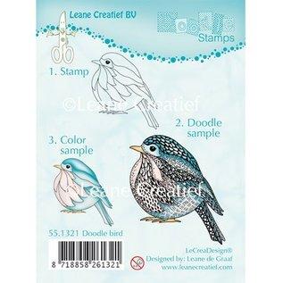 Leane Creatief - Lea'bilities und By Lene Transparante stempels, Vogel Doodle