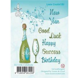 Leane Creatief - Lea'bilities und By Lene Transparante stempels, Celebration, Champagne, Champagne