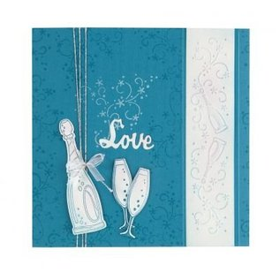 Leane Creatief - Lea'bilities und By Lene Transparent stamps, Celebration, Champagne, Champagne