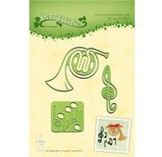 Leane Creatief - Lea'bilities und By Lene Taglio e goffratura stencil Lea'bilitie, strumenti musicali e spartiti