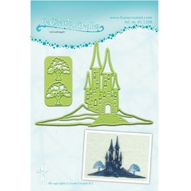 Leane Creatief - Lea'bilities und By Lene Cutting and embossing stencils Lea'bilitie, landscape with Burgt