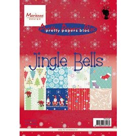 BASTELZUBEHÖR, WERKZEUG UND AUFBEWAHRUNG project Kerstmis! Designer Block, A5, Jingle Bells