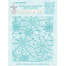 Leane Creatief - Lea'bilities und By Lene Embossing Folder: Spinnewebe patroon
