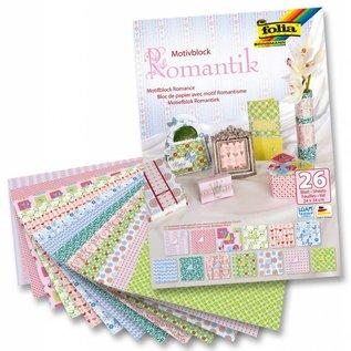 Karten und Scrapbooking Papier, Papier blöcke Motifblock Romance, 24x34cm, 26 vel