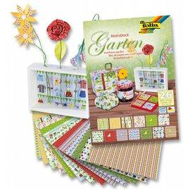 Karten und Scrapbooking Papier, Papier blöcke Motifblock Garden, 24x34cm, 26 sheet