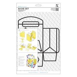 Docrafts / X-Cut scatola 3D taglio e goffratura stencil A4