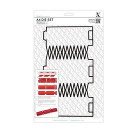Docrafts / X-Cut SPECIAL A4 punch template (1 st), Geschenkschachtel: Christmas crackers