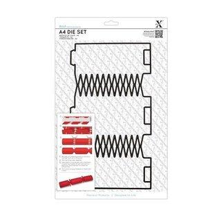 Docrafts / X-Cut A4 punch template (1 st), Geschenkschachtel: Christmas crackers