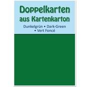 KARTEN und Zubehör / Cards 10 dobbeltværelser kort A6, mørk grøn, 250 g / kvm