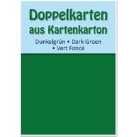10 Doppelkarten A6, dunkelgrün, 250 g / qm