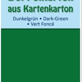 KARTEN und Zubehör / Cards 10 carte doppie A6, verde scuro, 250 g / mq