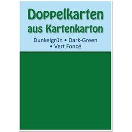 KARTEN und Zubehör / Cards 10 tarjetas dobles A6, verde oscuro, 250 g / m²
