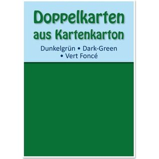 KARTEN und Zubehör / Cards 10 dubbele kaarten A6, donkergroen, 250 g / m²