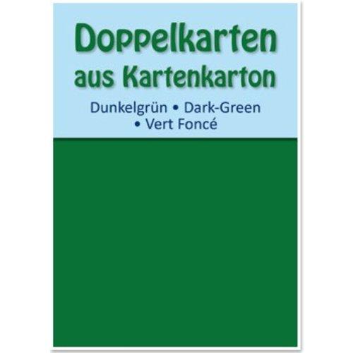 KARTEN und Zubehör / Cards 10 cartes doubles A6, vert foncé, 250 g / m²