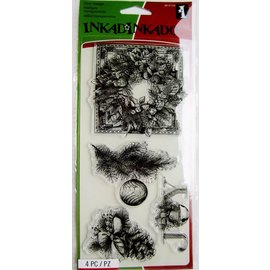EK Succes, Martha Stewart Transparent stamp, Christmas wreath, Christmas ornaments - ONLY 1 left in stock!