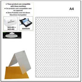 embossing Präge Folder A4 dossiers de gaufrage: les points
