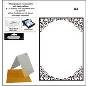 DARICE A4 embossing folders: oval frame