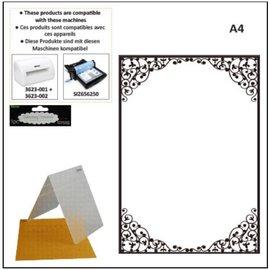 DARICE carpetas de grabación en relieve A4: Marco oval