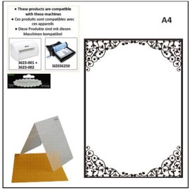 DARICE cartelle di goffratura A4: cornice ovale
