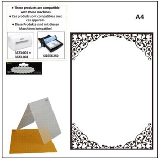 DARICE A4 embossing folders: oval frame