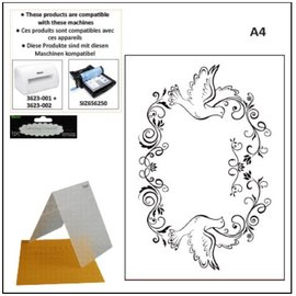 DARICE Dossiers de gaufrage A4: cadre décoratif