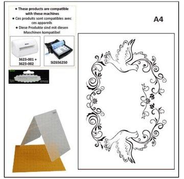 DARICE A4 cartelle goffratura: cornice decorativa