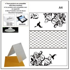 DARICE A4 Embossing folder: decorative frame