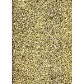 STICKER / AUTOCOLLANT A4 klistremerke ark: glitter, gull