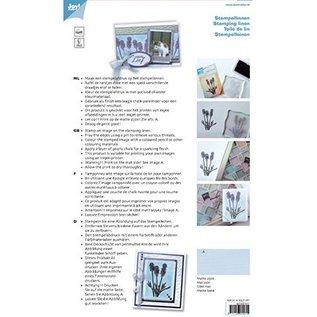 BASTELZUBEHÖR, WERKZEUG UND AUFBEWAHRUNG Stamp linen, white, A5, 10 sheets