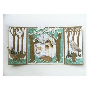 Marianne Design Cutting en embossing stencils, bomen