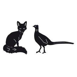 Marianne Design Kutte og prege sjablonger, Tiny er dyr, Fox og Pheasant