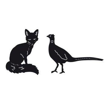 Marianne Design Taglio e goffratura stencil, di minuscoli animali, Fox e fagiano