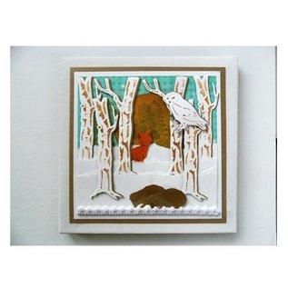 Marianne Design Cutting en embossing stencils, Tiny Dieren, Fox en Pheasant