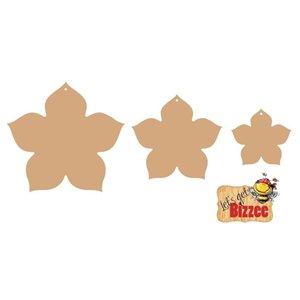Objekten zum Dekorieren / objects for decorating Objekter til dekoration, blomst MDF