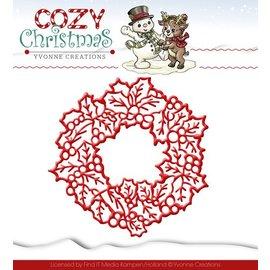 Yvonne Creations Coupe et de gaufrage pochoirs, Yvonne Creations, couronne de Noël