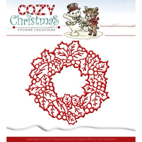 Yvonne Creations Cutting and embossing stencils, Yvonne Creations, Christmas wreath