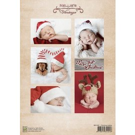 Nellie Snellen Fiche Decoupage bébés vintage de Noël
