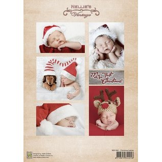 Nellie Snellen Knipvel vintage Kerstmis baby's