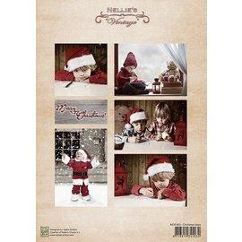 Nellie Snellen Hoja de Decoupage muchacha de la Navidad de la vendimia
