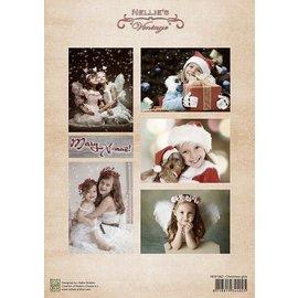 Nellie Snellen Knipvel vintage Kerstmis jongens
