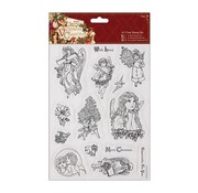 Docrafts / Papermania / Urban A5 Precision Stamp Set, victorianske jul - Angel