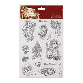 Docrafts / Papermania / Urban A5 precisión sello Conjunto, navidad del Victorian - Angel